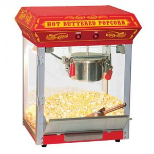 Popcorn Machine - $50 / day ~ Supplies: $20 for 50 servings